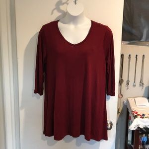 Marseille burgundy blouse
